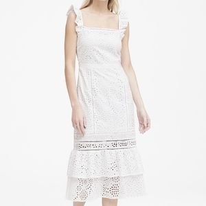 white eyelet pinafore dress